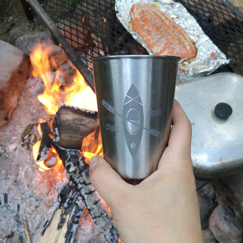 12oz Kayak stainless tumbler by Bread and Badger