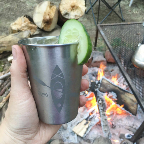 Kayak stainless tumbler for camp cocktails