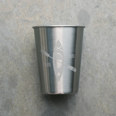 Kayak 12oz stainless tumbler for camp cockatils