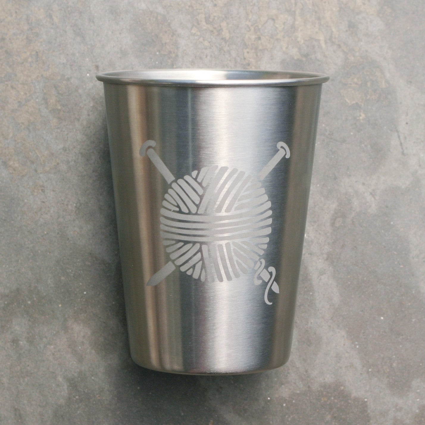 Knitting 12oz stainless cup