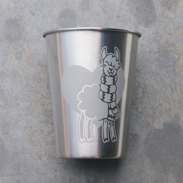 Llama 12oz steel cup by Bread and Badger