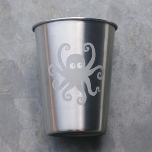 Octopus stainless steel 12oz cup