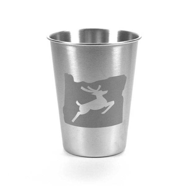 Oregon stag stainless tumbler, 12oz