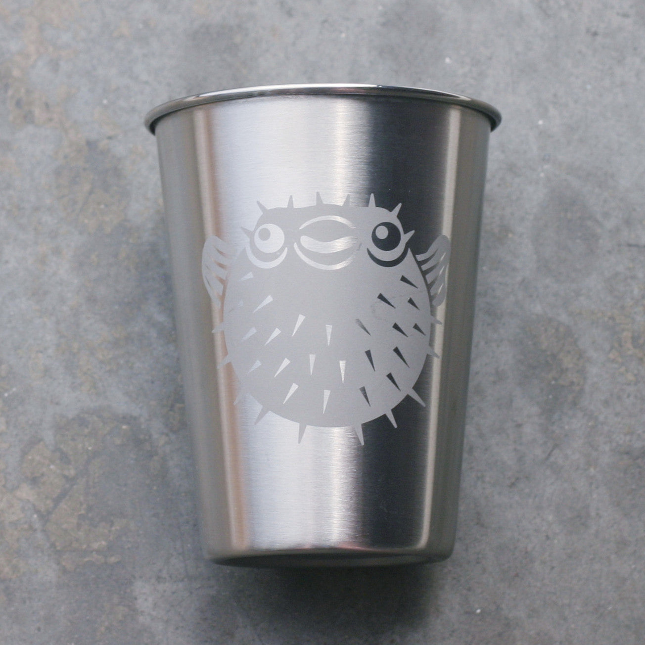 Puffer Fish stainless steel 12oz cup