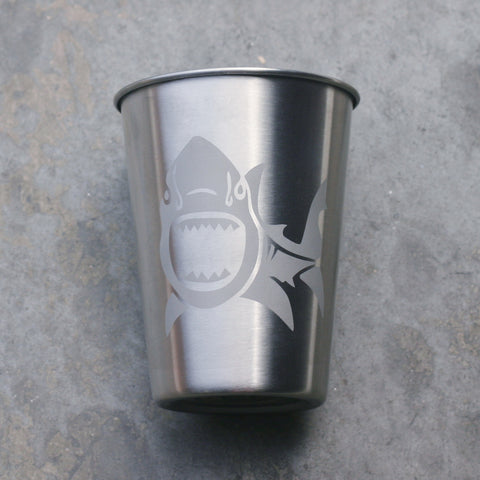 Shark stainless steel 12oz cup
