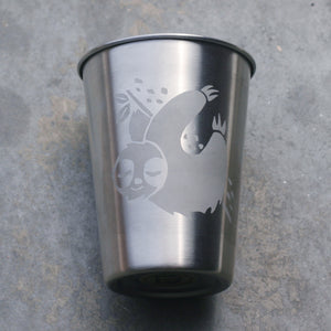 Sloth stainless steel 12oz cup