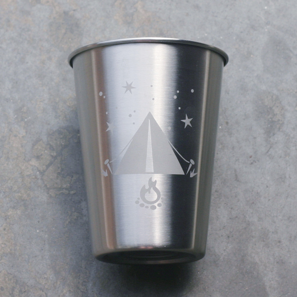 Tent camping stainless steel 12oz cup