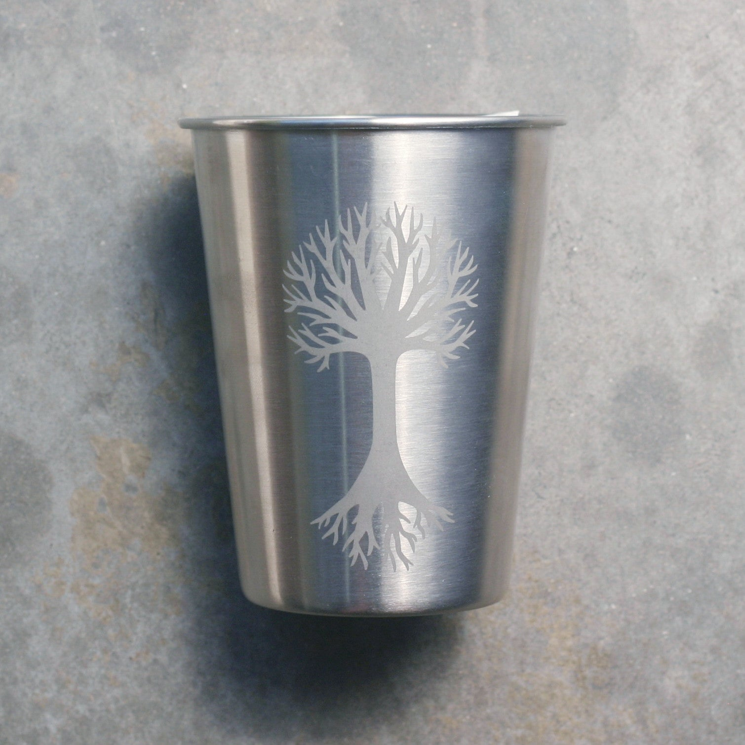 Tree 12oz stainless steel cup