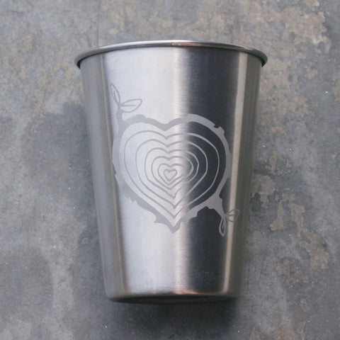 Tree Stump Heart stainless steel 12oz cup