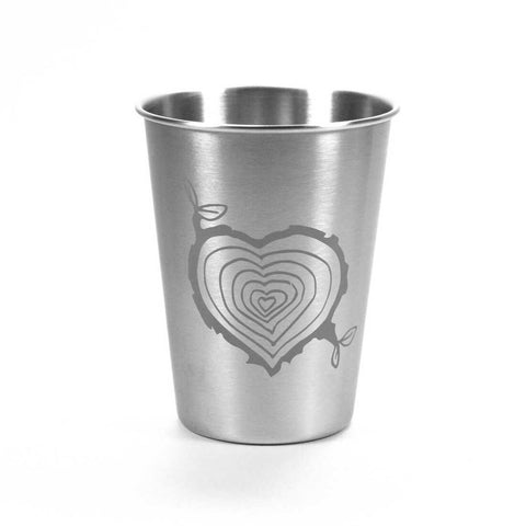 12oz tree stump heart tumbler by Bread and Badger