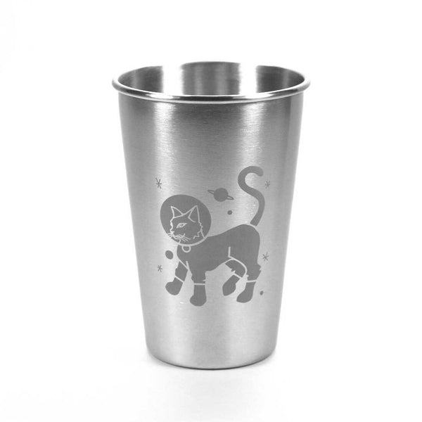 16oz Astro Cat Stainless Steel Cups