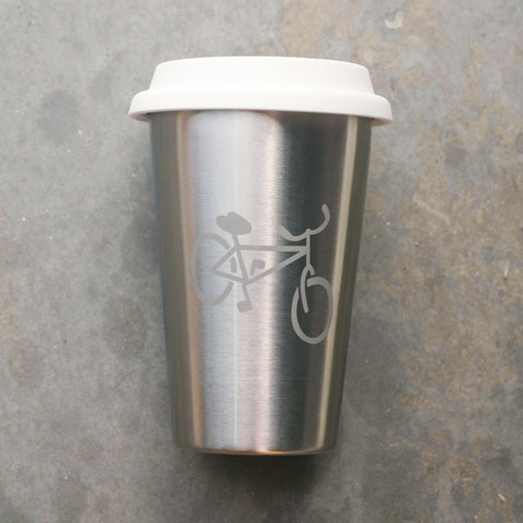 Bicycle stainless steel cup