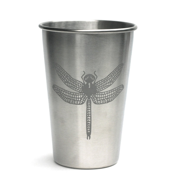 dragonfly stainless steel 16oz cup