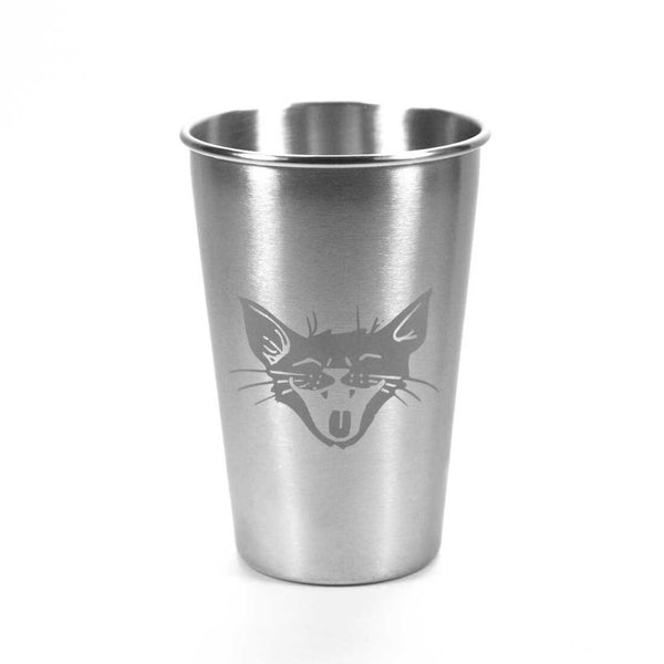 16oz Laughing cat stainless tumbler