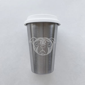 Pug Dog Stainless Steel Cup (Retired)