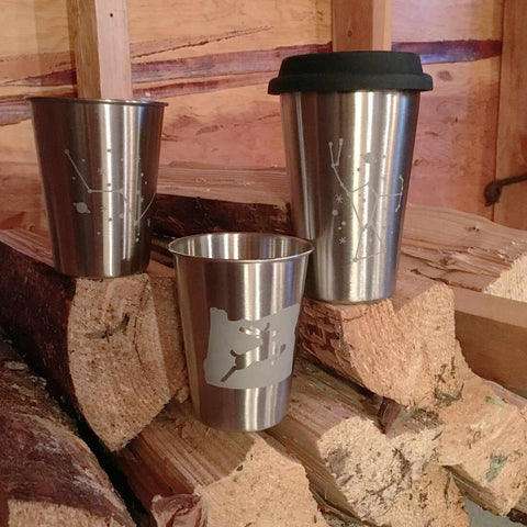 metal camping cups by Bread and Badger