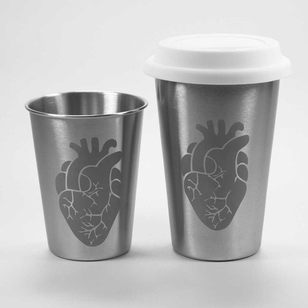 Anatomical Heart Stainless Steel Tumblers