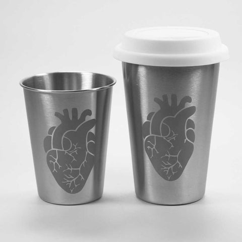 Anatomical Heart Stainless Steel Tumbler