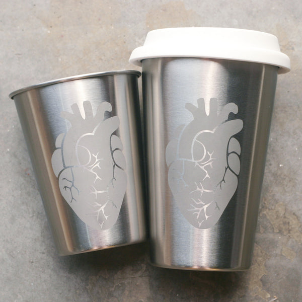 Anatomical Heart Stainless Steel Cups