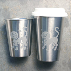 Astronaut Cat Stainless Steel Cup (Retired)