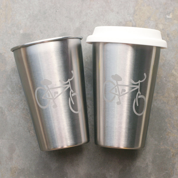 Bicycle stainless steel cups