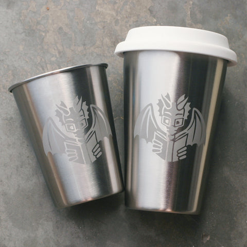 Book Dragon Stainless Steel Cup (Retired)