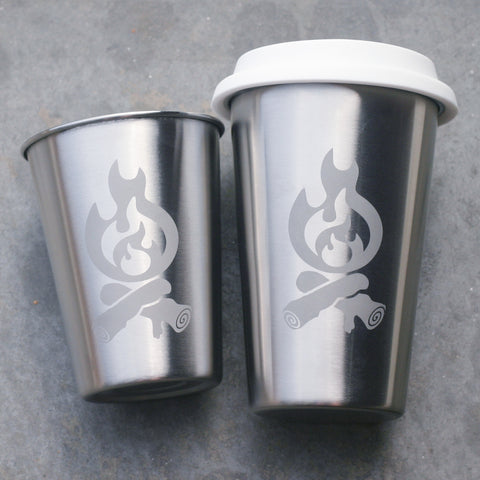 Campfire stainless steel cups by Bread and Badger