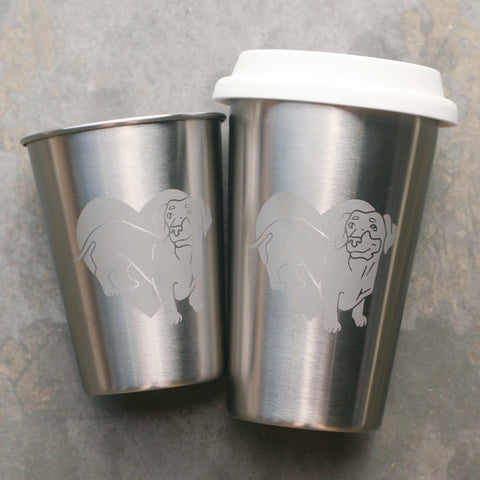 Dachshund Stainless Steel Cups by Bread and Badger