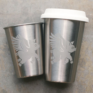 Flying Pig stainless steel cups