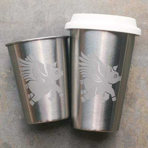 Flying Pig Stainless Steel Cup (Retired)