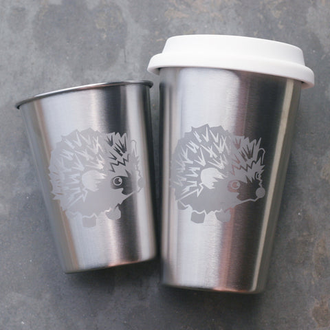 Hedgehog stainless steel cups by Bread and Badger