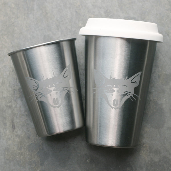 stainless steel laughing cat cups