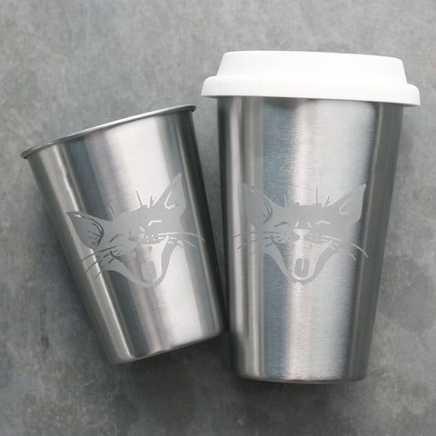 Laughing cat stainless steel tumblers
