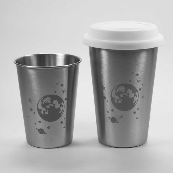 Moon and stars stainless steel tumblers