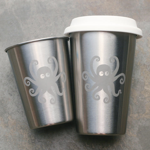 Octopus stainless steel cups by Bread and Badger