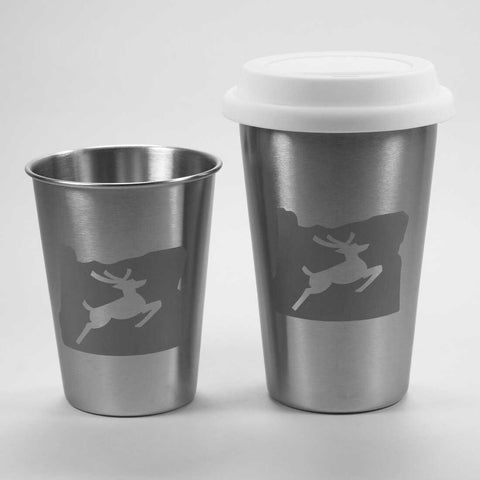 Oregon stag stainless steel tumblers