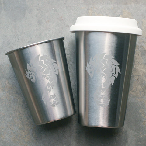 Pangolin stainless steel cups by Bread and Badger