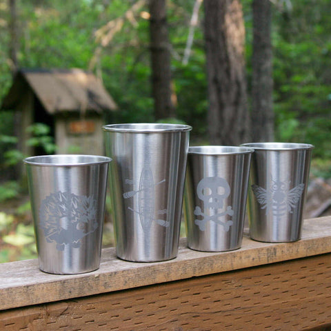stainless tumblers by Bread and Badger
