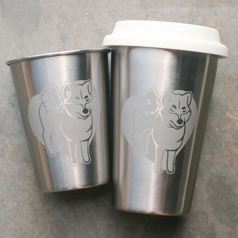 Shiba Inu Stainless cups by Bread and Badger