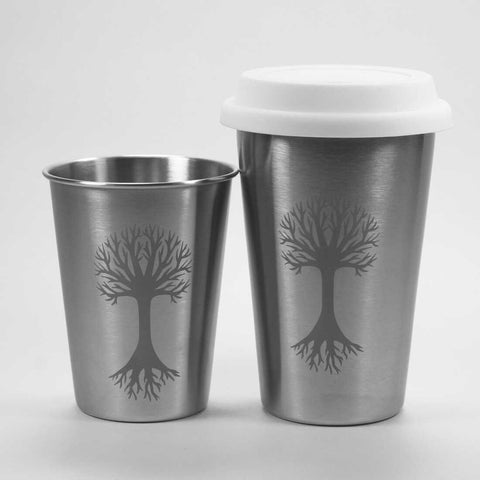 tree stainless cups by Bread and Badger