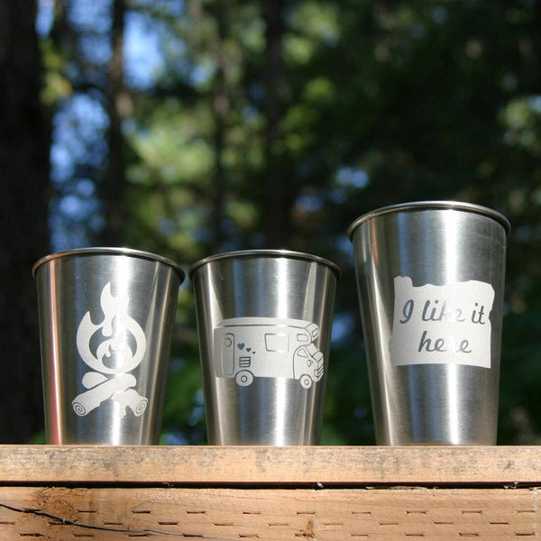 stainless steel cups are great for camping