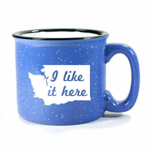 Ocean Blue Washington camp mug by Bread and Badger