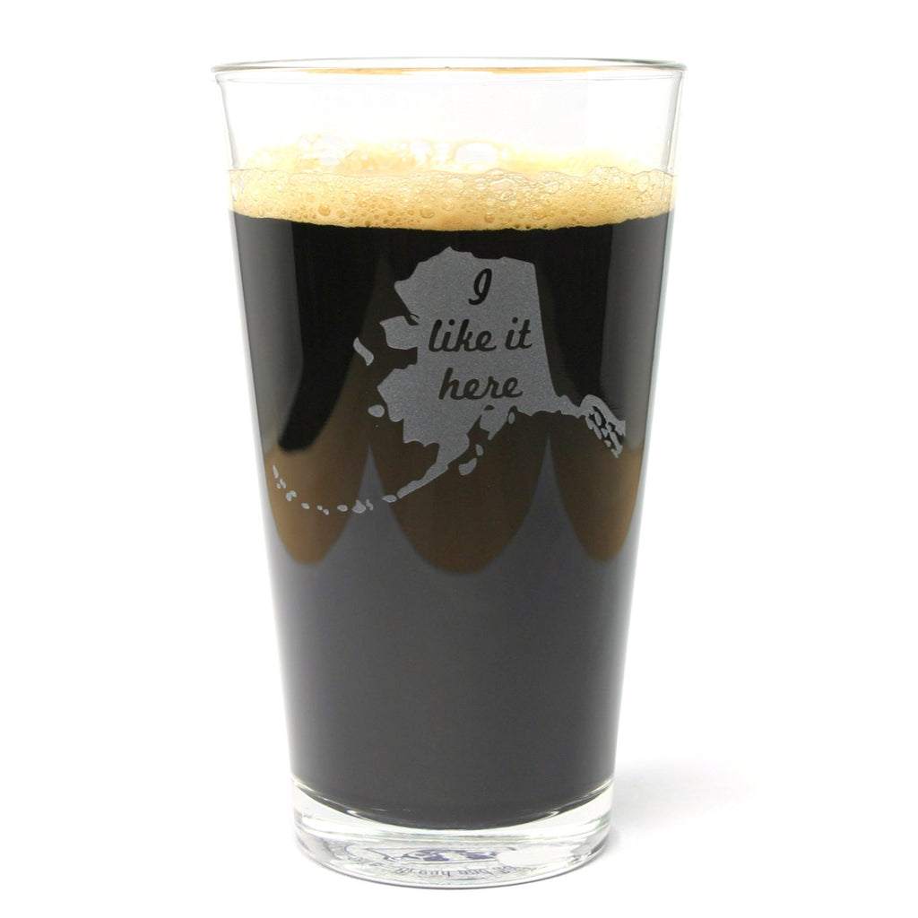 Alaska state pint glass