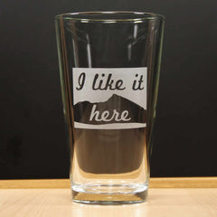 State Pint Glass - I Like it Here (Retired)