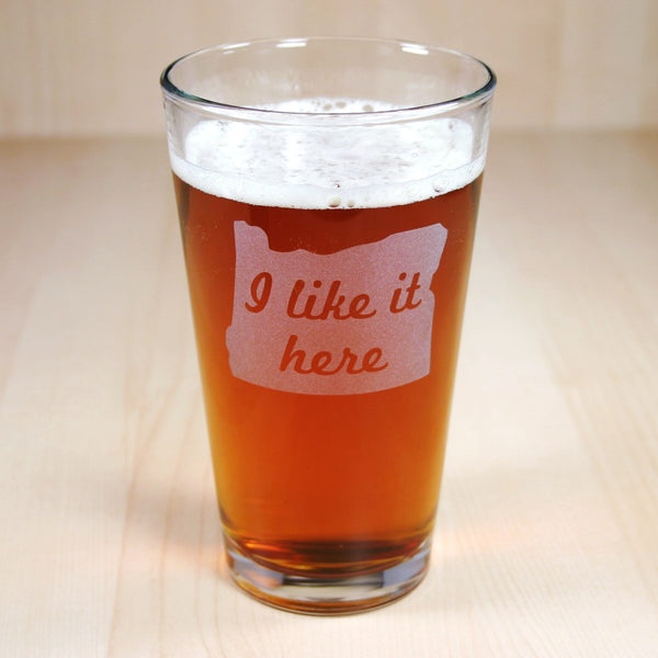 oregon pint glass