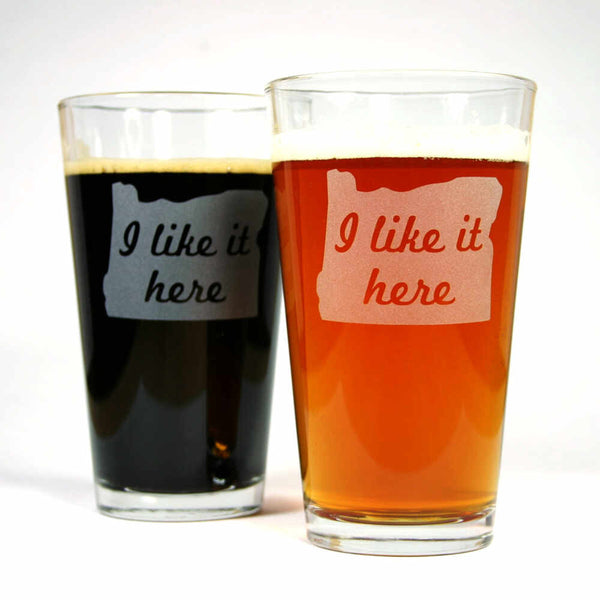 Oregon State pint glasses set of 2