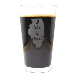Illinois state pint glass