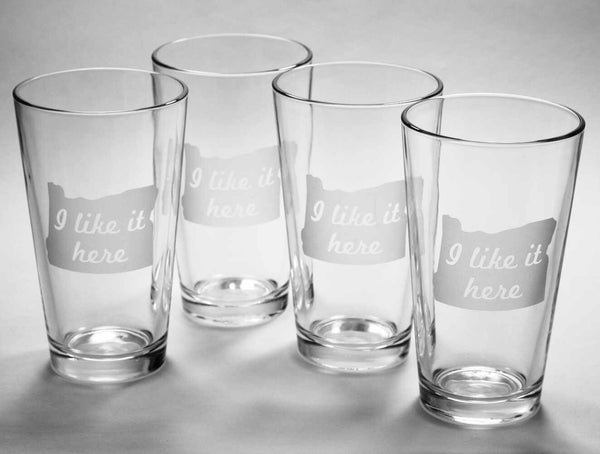 Oregon State pint glasses set of 4