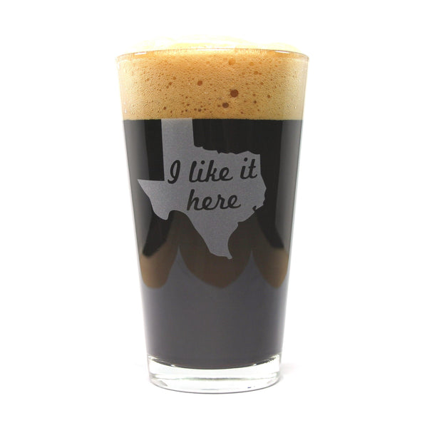 Texas state pint glasses