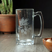 Mother's Day Beer Tankard - dishwasher safe etched glass stein